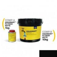 Aquasmart оптом | Краска полиуретановая Aquasmart-PU Finish Matt черный 1,6 кг для гидроизоляции