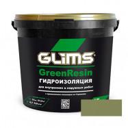 Glims оптом | Мастика полимерная на водной основе Glims GreenResin зеленый 3,5 кг
