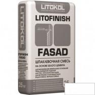 Litokol оптом   Шпаклевка цементная Litokol Litofinish Fasad белый 25 кг