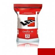 Levl оптом | Полимерцемент Levl CemPol 20 однокомпонентный для создания финишного покрытия красный 25 кг