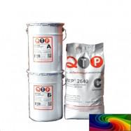 QTP оптом | Покрытие полиуретан-цементное QTP 2640 термостойкое палитра RAL 15 кг