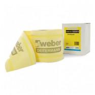 Weber-Vetonit оптом   Лента изоляционная Weber-Vetonit Weber.tec 828 DB 76 эластичная  желтый  120*0,8 мм 10 м